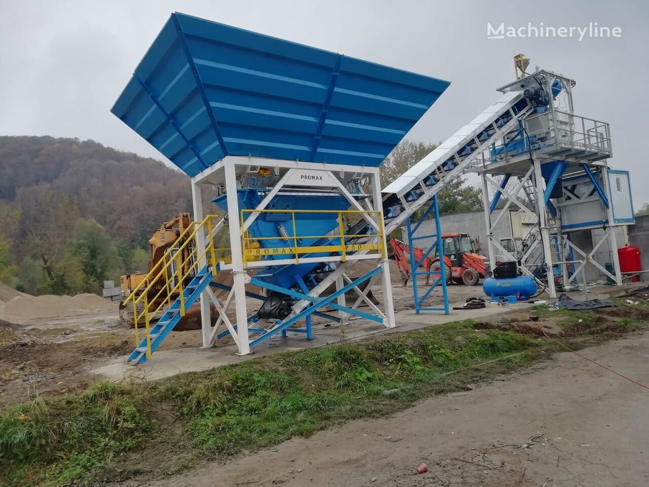 ny PROMAX Compact Concrete Batching Plant C60-SNG-PLUS (60m3/h) betongfabrikk