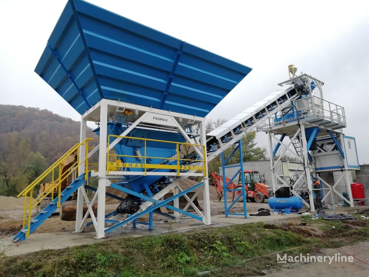ny PROMAX Compact Concrete Batching Plant PROMAX C60-SNG-PLUS (60m³/h) betongfabrikk